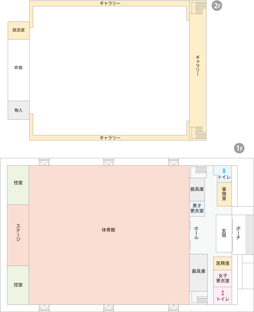 浅井体育館平面図