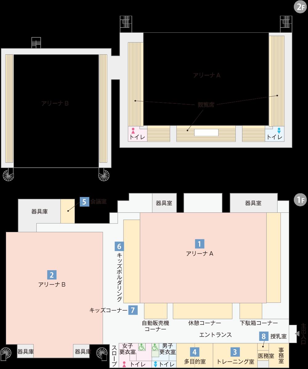 長浜伊香ツインアリーナ平面図