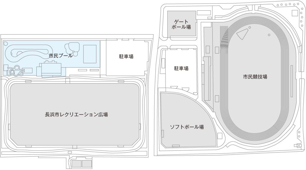 長浜市民プール案内図