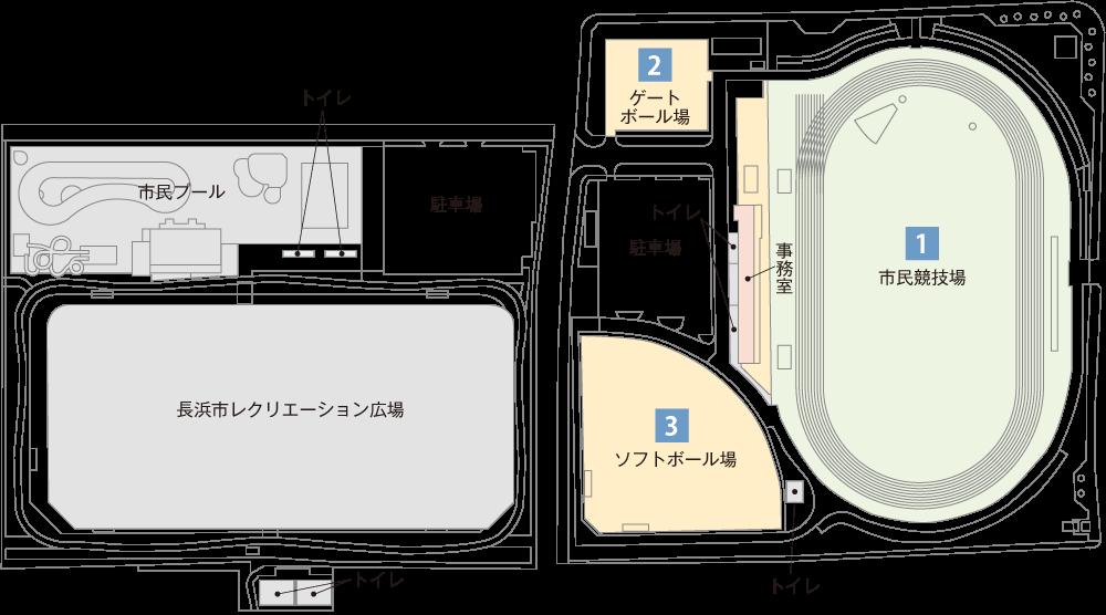 神照運動公園案内図
