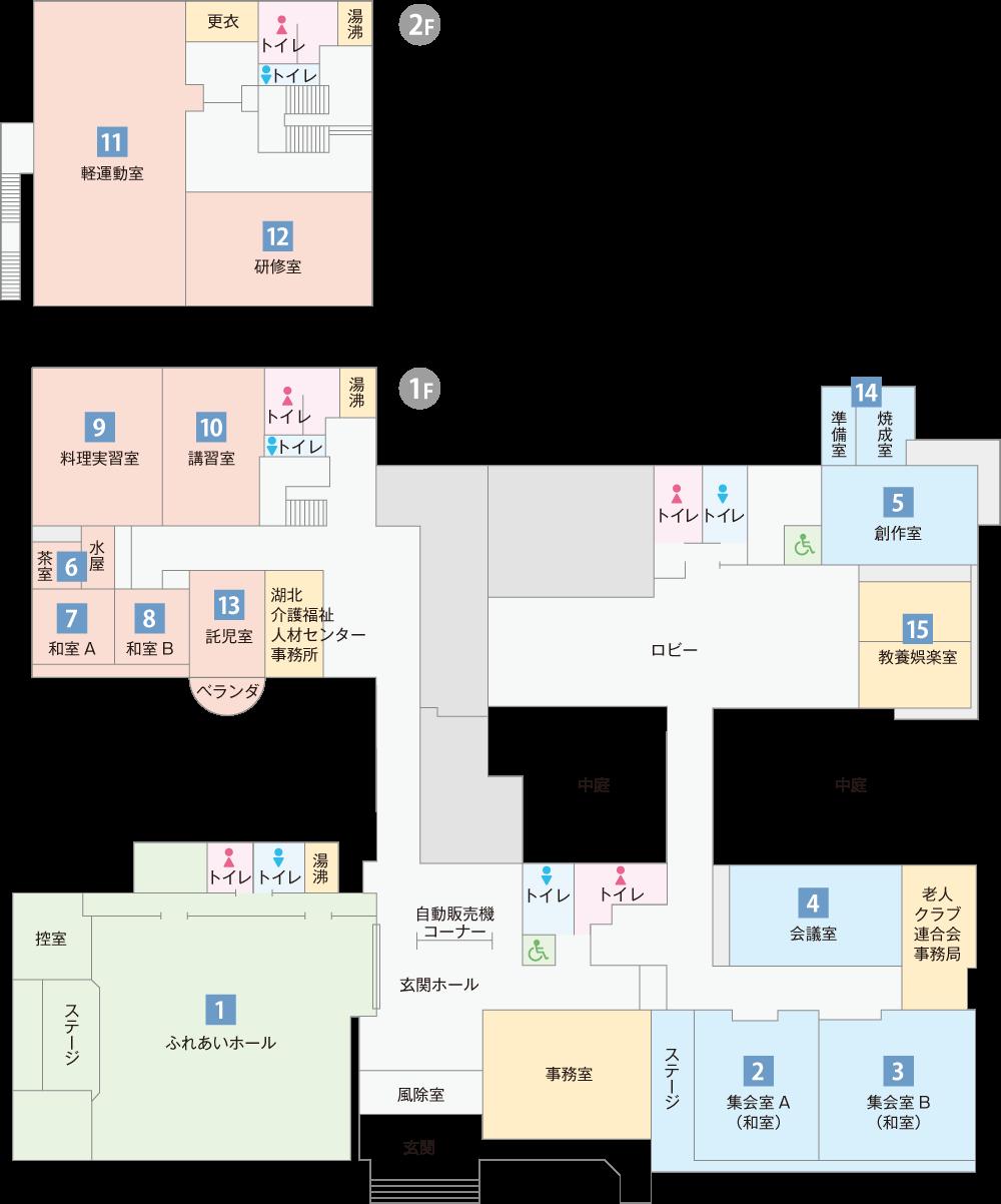 長浜市民交流センター平面図