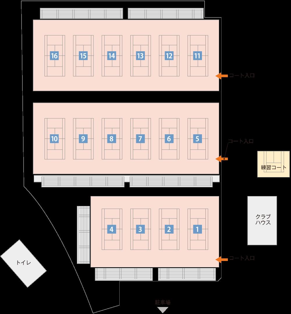 長浜市民庭球場平面図